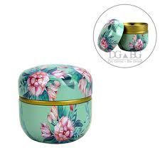 Blue flower urn